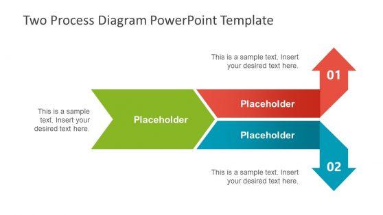 Two Process PPT Diagram Arrows