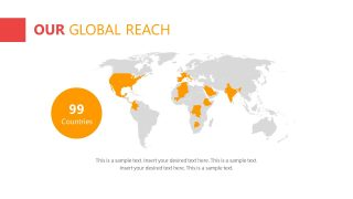 Global Reach template Design with Map