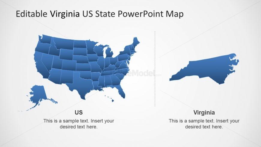 Virginia And USA Map Template