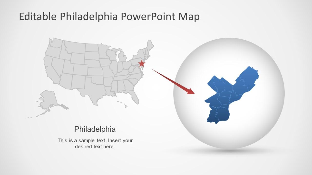 Philadelphia Map PowerPoint Template - SlideModel