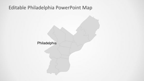 Gray Map of Philadelphia PPT