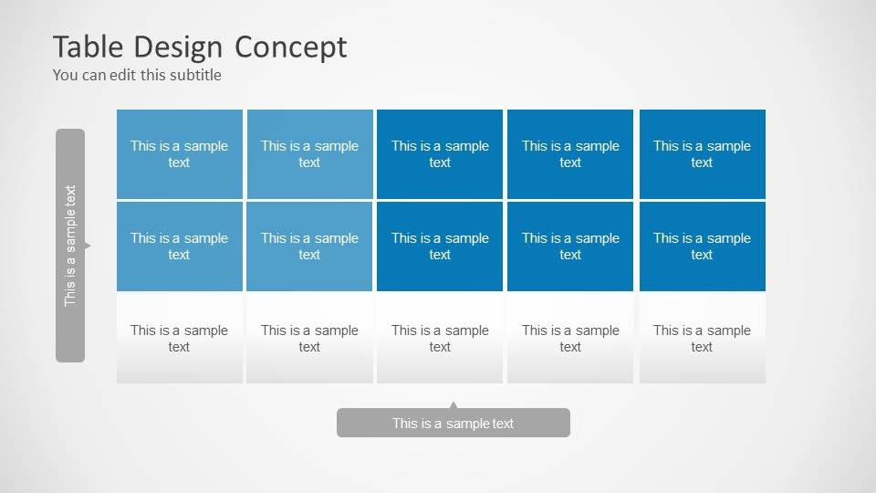 table design concept for powerpoint slidemodel