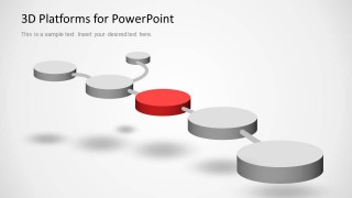 3D Platforms Slide Design for PowerPoint