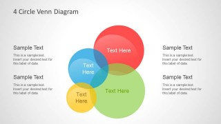 colorful intersected circles & venn diagrams for powerpoint, Powerpoint templates