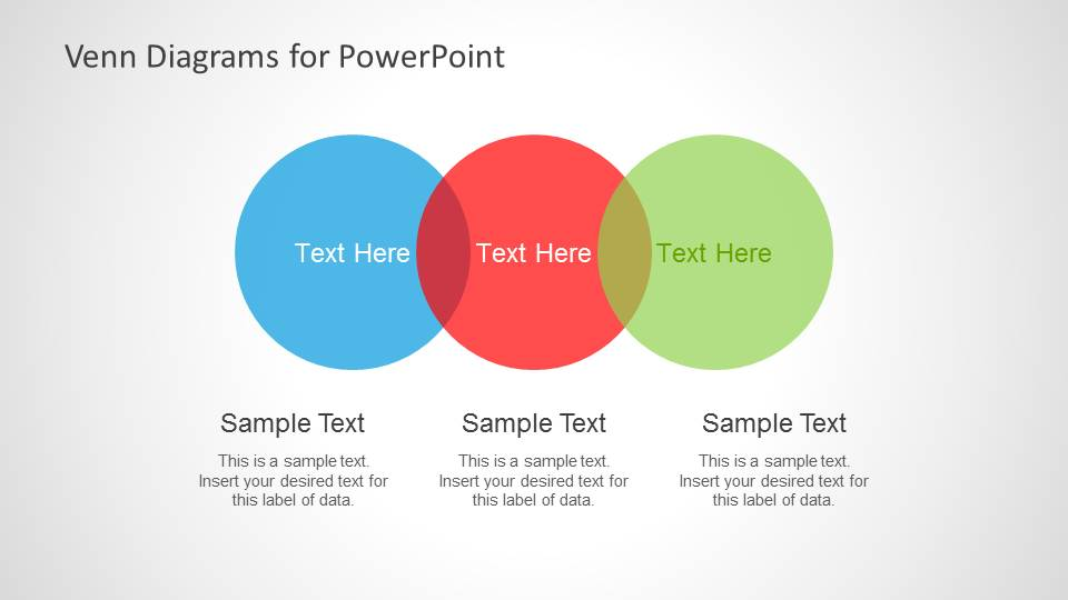 how to add a venn diagram in powerpoint