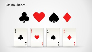Four Aces Card Slide Design for PowerPoint