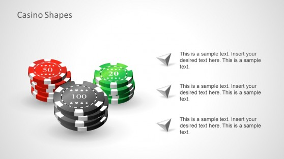 Gaming Chips for Casino PowerPoint Presentations