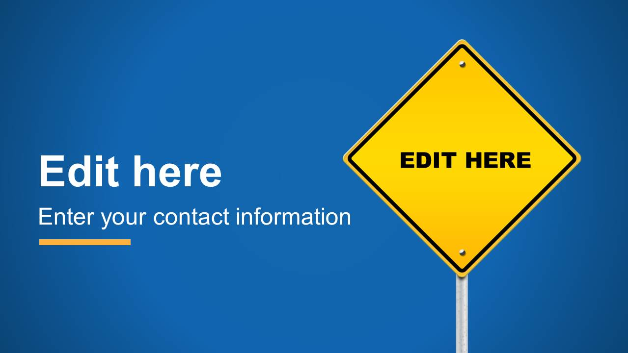 Editable Road Sign PowerPoint Template