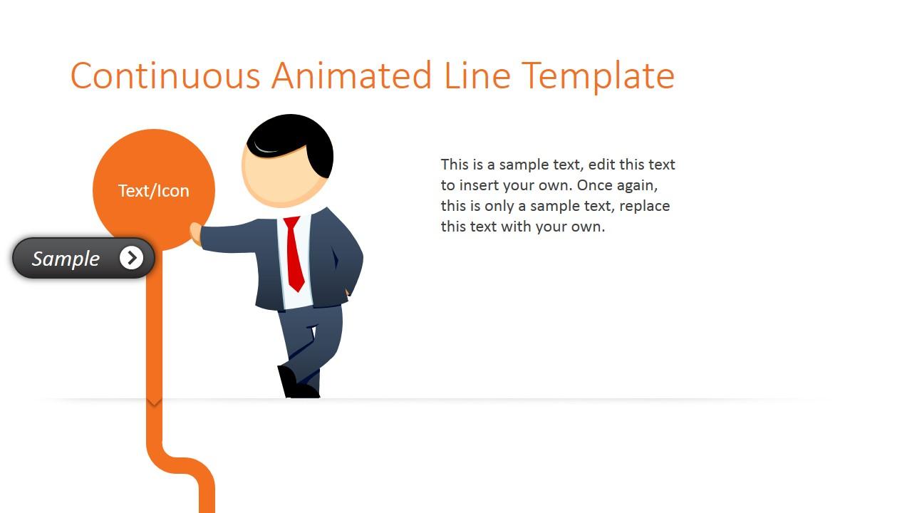 Mike Orange Line Make Cartoon Slide for PowerPoint