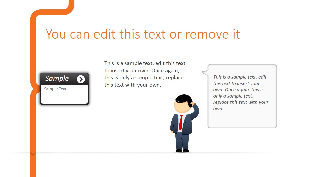 Confused Cartoon Picture PowerPoint Slide Design