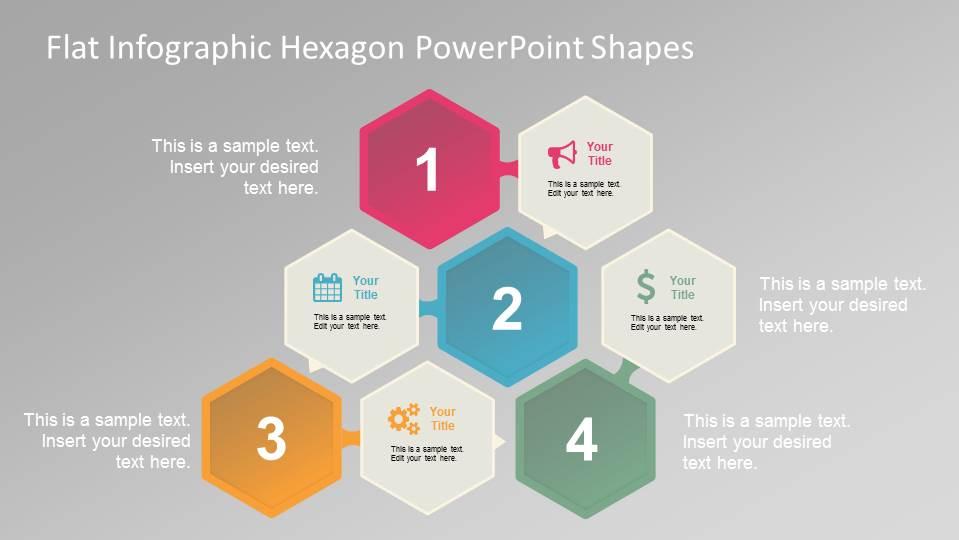 Hexagon shape templates for powerpoint flat infographic hexagonal powerpoint shapes toneelgroepblik Images