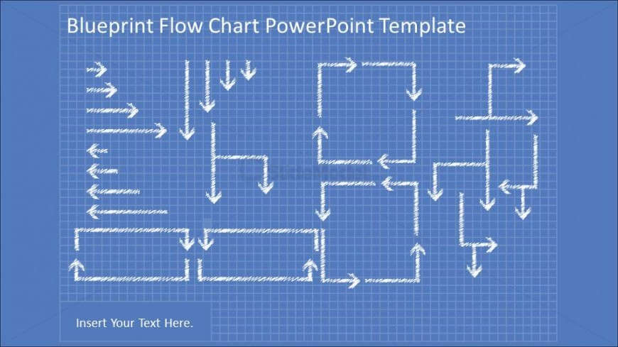 Collection of PowerPoint Flowchart hand drawn connectors