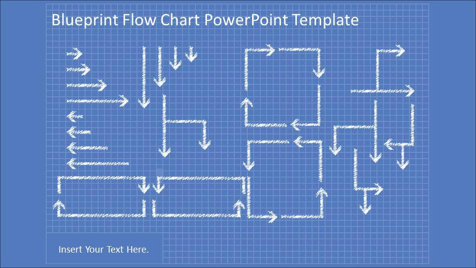 Blueprint flowchart powerpoint diagram slidemodel blueprint flowchart diagrams with powerpoint hand drawn shapes and connectors collection of powerpoint flowchart hand drawn connectors malvernweather Image collections