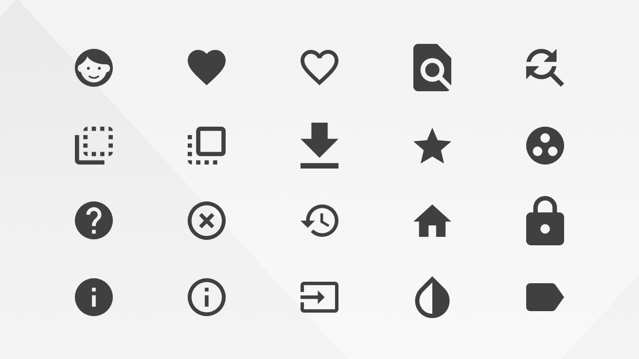 Google Materials PowerPoint Action Icons