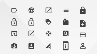 Google Materials Resources Action Icons for Web and Mobile
