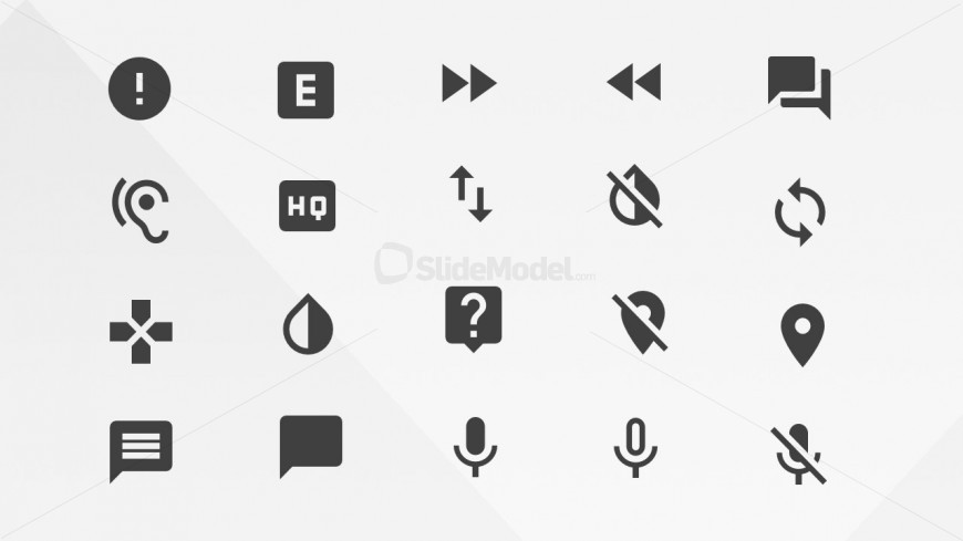 Communications Icons Library from Google Materials Resources