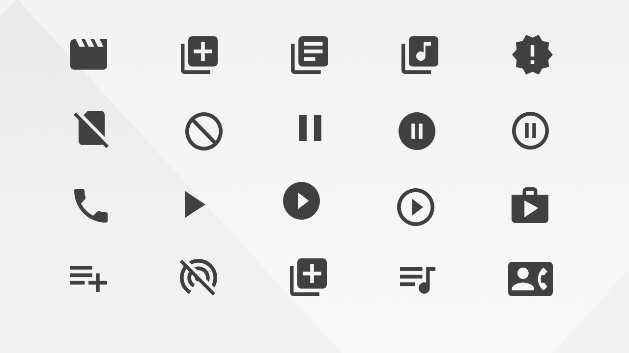 google materials alerts communications and av icons for powerpoint