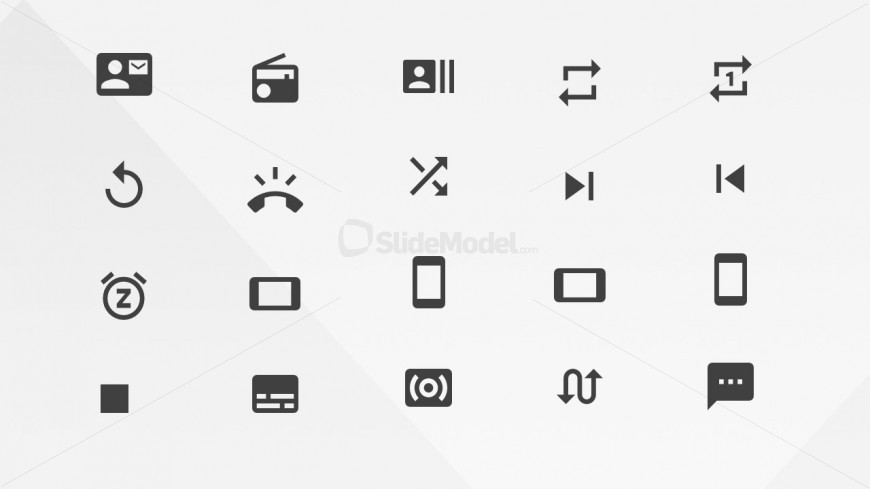 PowerPoint Icons Communication Library