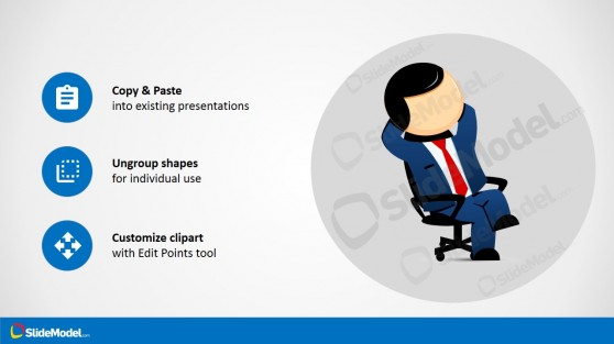 Office Chair Character Design for PowerPoint