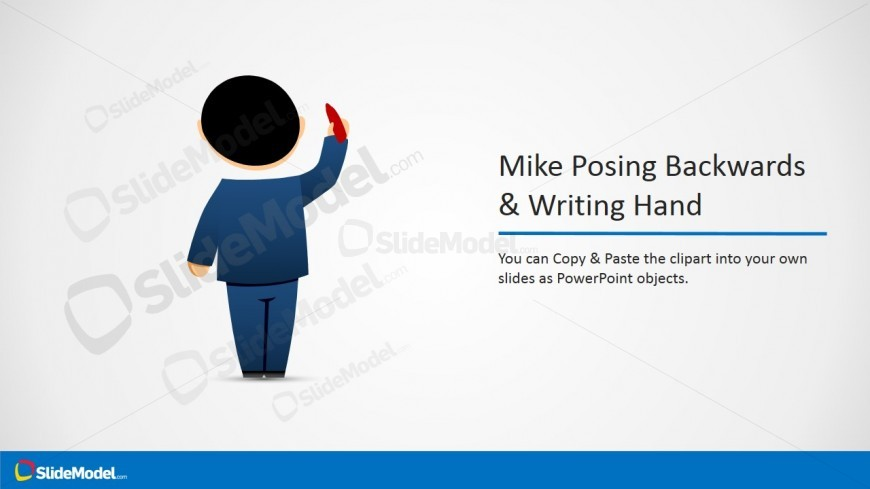 Male Cartoon Picture with Hand Writing