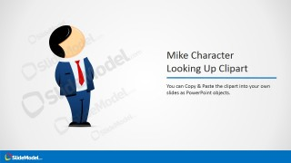 Male Businessman Cartoon Clipart Looking Up