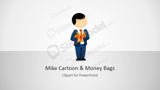 Male Cartoon Money Bag Clipart Design
