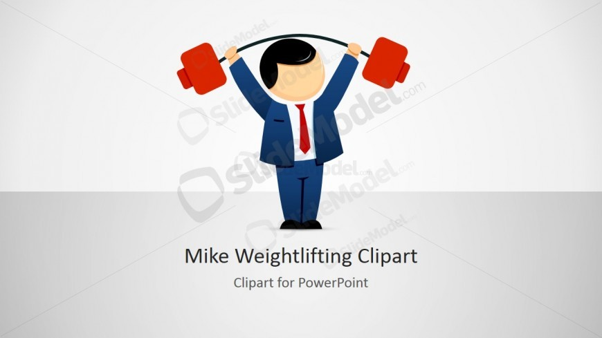 Male Cartoon Bodybuilder Picture for PowerPoint