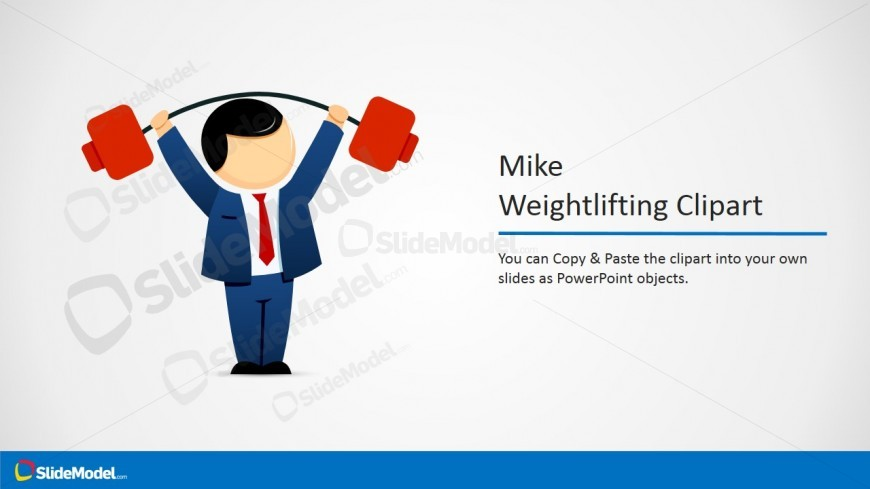 Mike Weightlifting PowerPoint Clipart