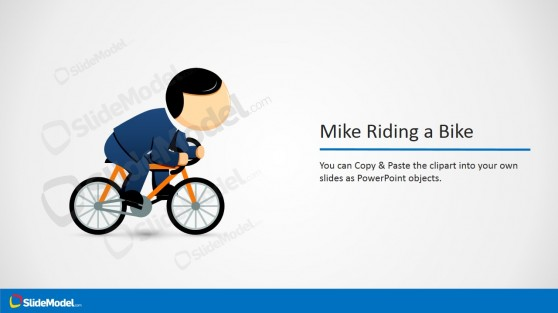 Mike Running a Bike Cartoon Picture