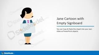 PowerPoint Jane Cartoon with Whitebaord