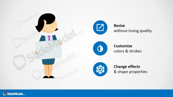 Jane Character Clipart Cartoon for PowerPoint