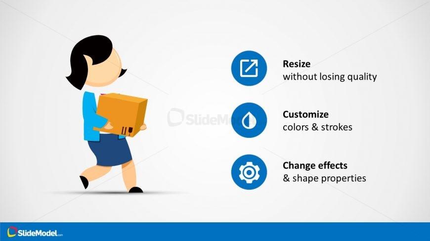 Cartoon Character Illustration PowerPoint