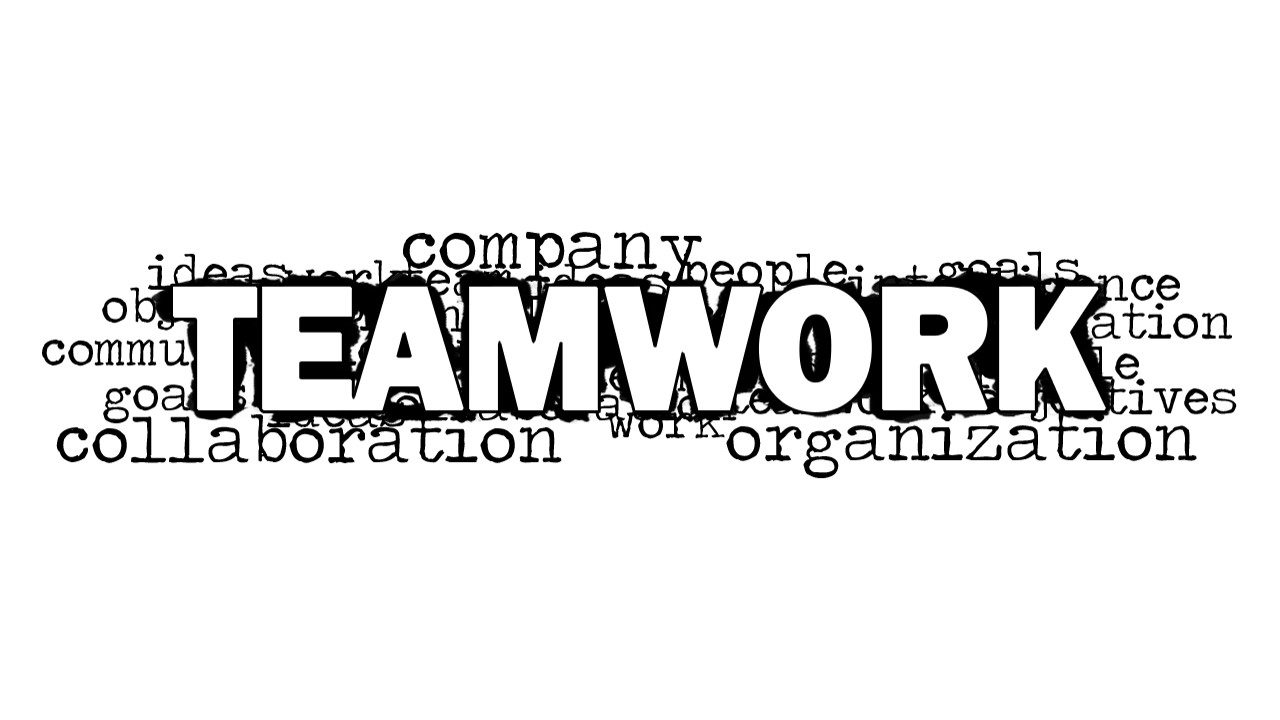 teamwork word cloud picture for powerpoint