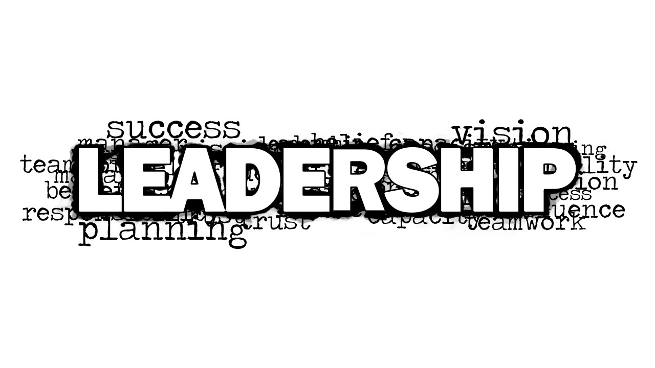 leadership word cloud picture for powerpoint
