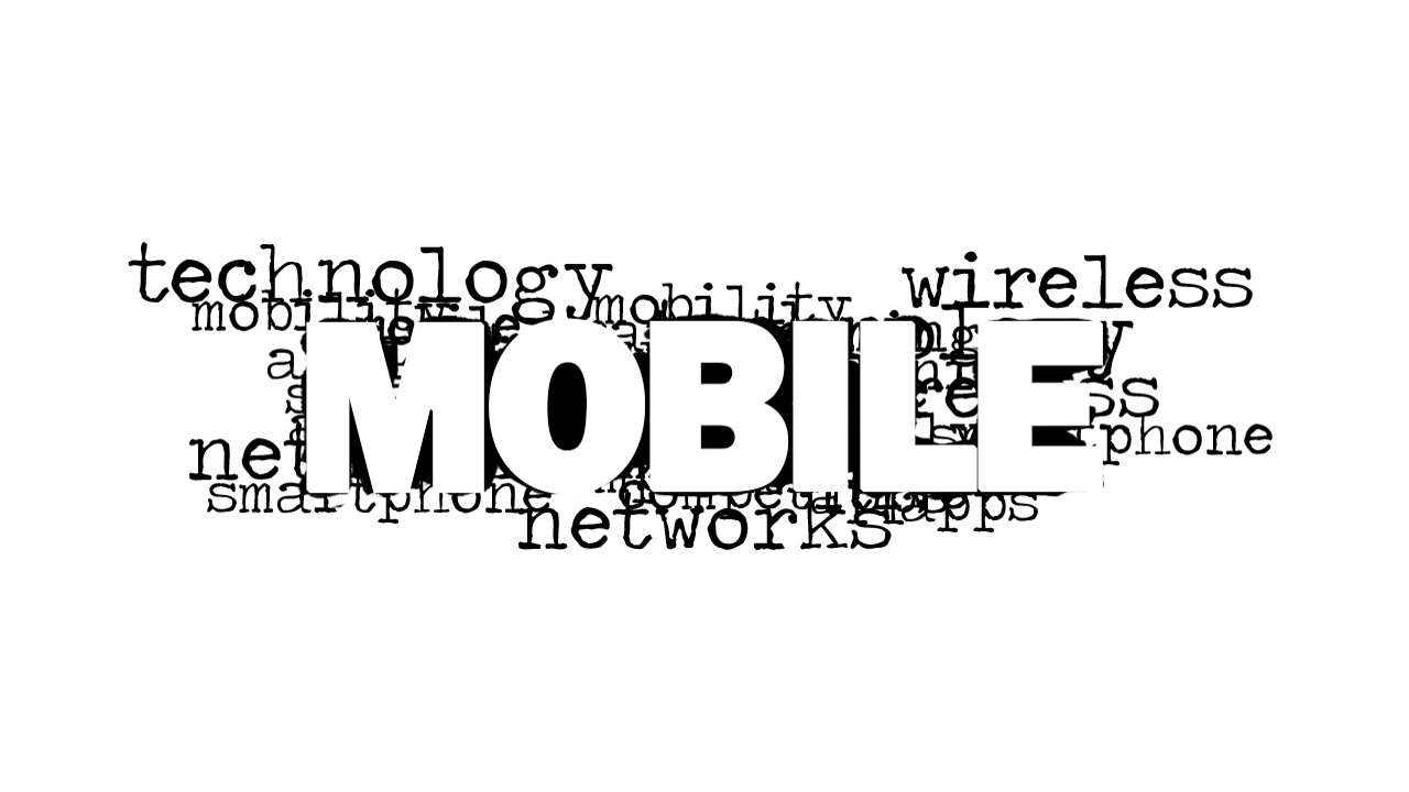 mobile word cloud picture for powerpoint slidemodel