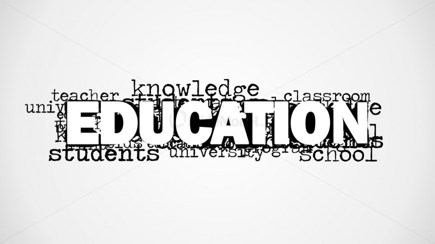 PowerPoint Word Cloud Education Keyword