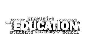 PowerPoint Word Cloud Featuring Education