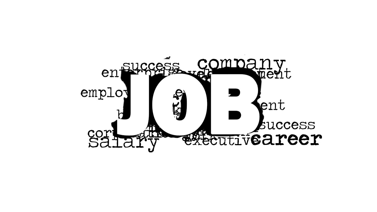 job word cloud picture for powerpoint