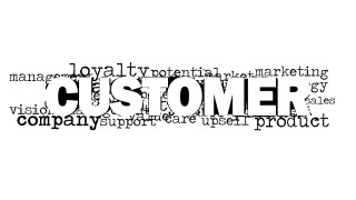 Customer Word Cloud Picture White Background