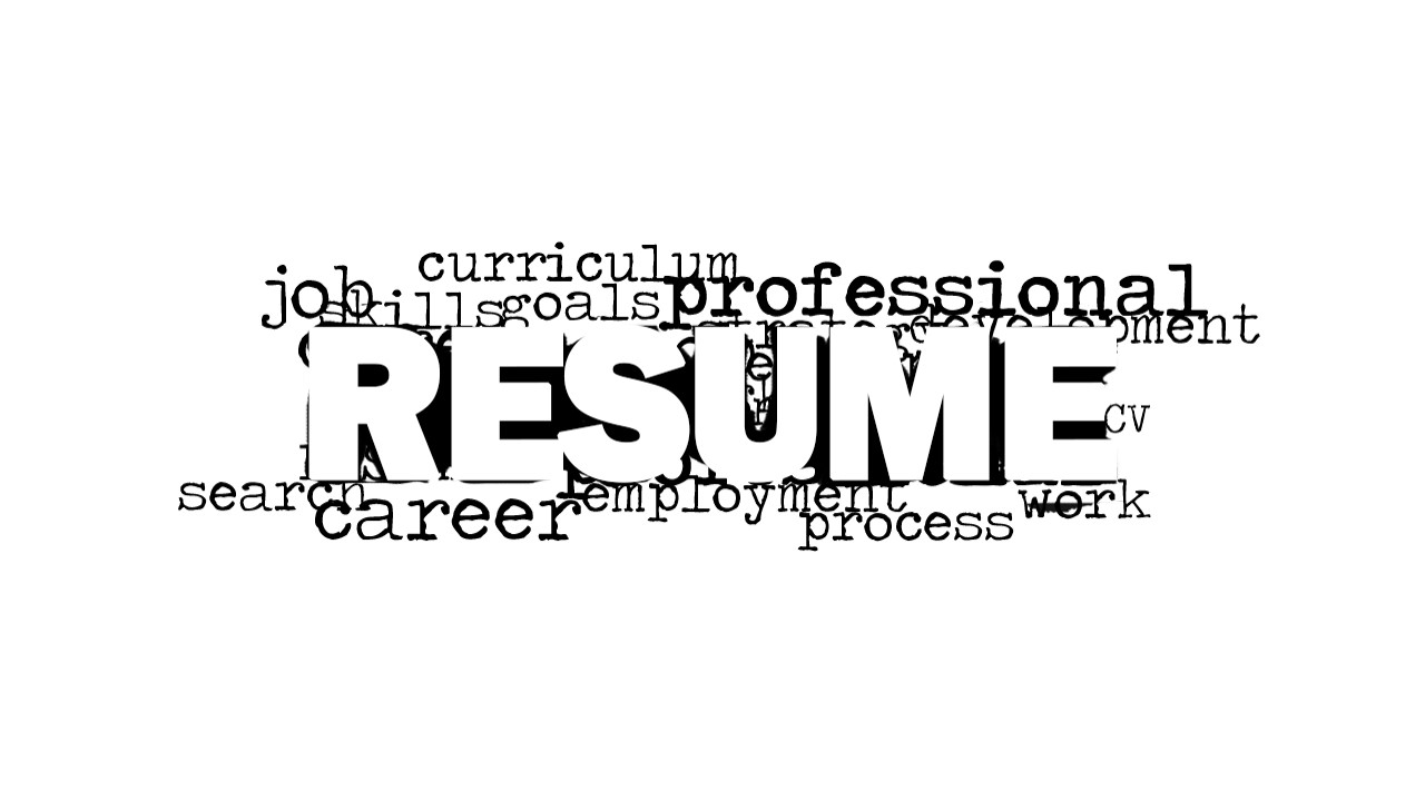 Resume Word Cloud Picture for PowerPoint - SlideModel
