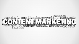 Content Marketing Word Cloud Picture