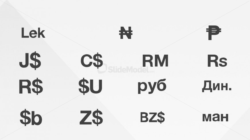PowerPoint Slide Design of Currency Symbol