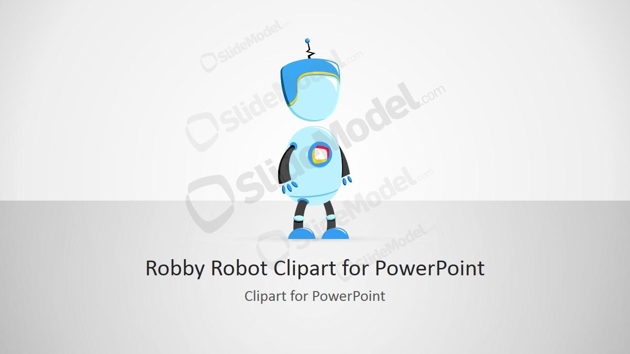 Robby robot cartoon illustration for powerpoint slidemodel robby robot cartoon illustration for powerpoint toneelgroepblik Gallery
