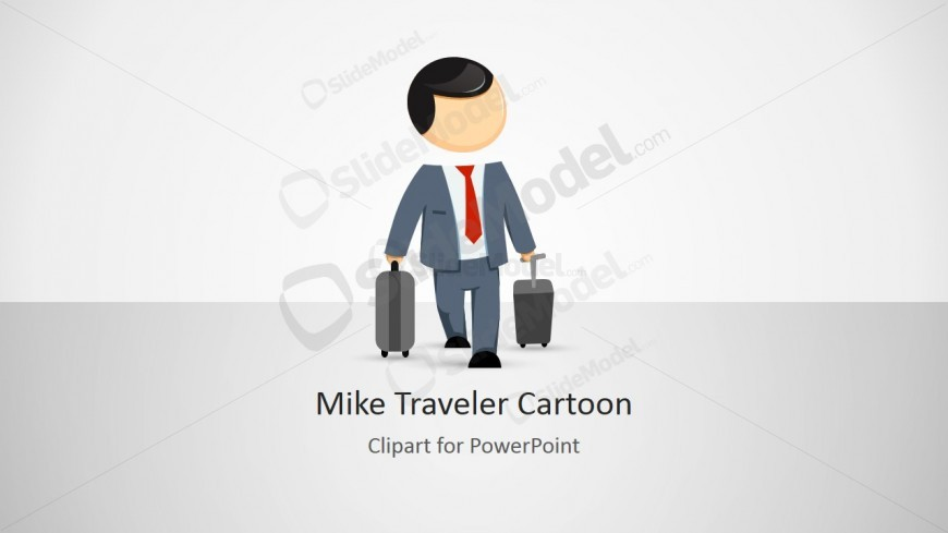 PowerPoint Shape of Business Man Travelling