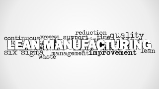 Lean Manufacturing Word Cloud Picture for PowerPoint