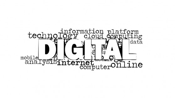 Digital Word Cloud Design for PowerPoint