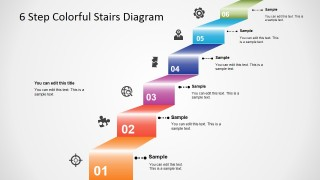 3D Modern Stair with PowerPoint Icons