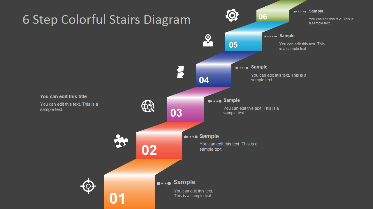 6 Step Colorful Stairs Diagram for PowerPoint - SlideModel Stairs A Schematic Diagrams on ic schematic diagram, layout diagram, template diagram, circuit diagram, a schematic circuit, a schematic drawing, simple schematic diagram, ups battery diagram, as is to be diagram,