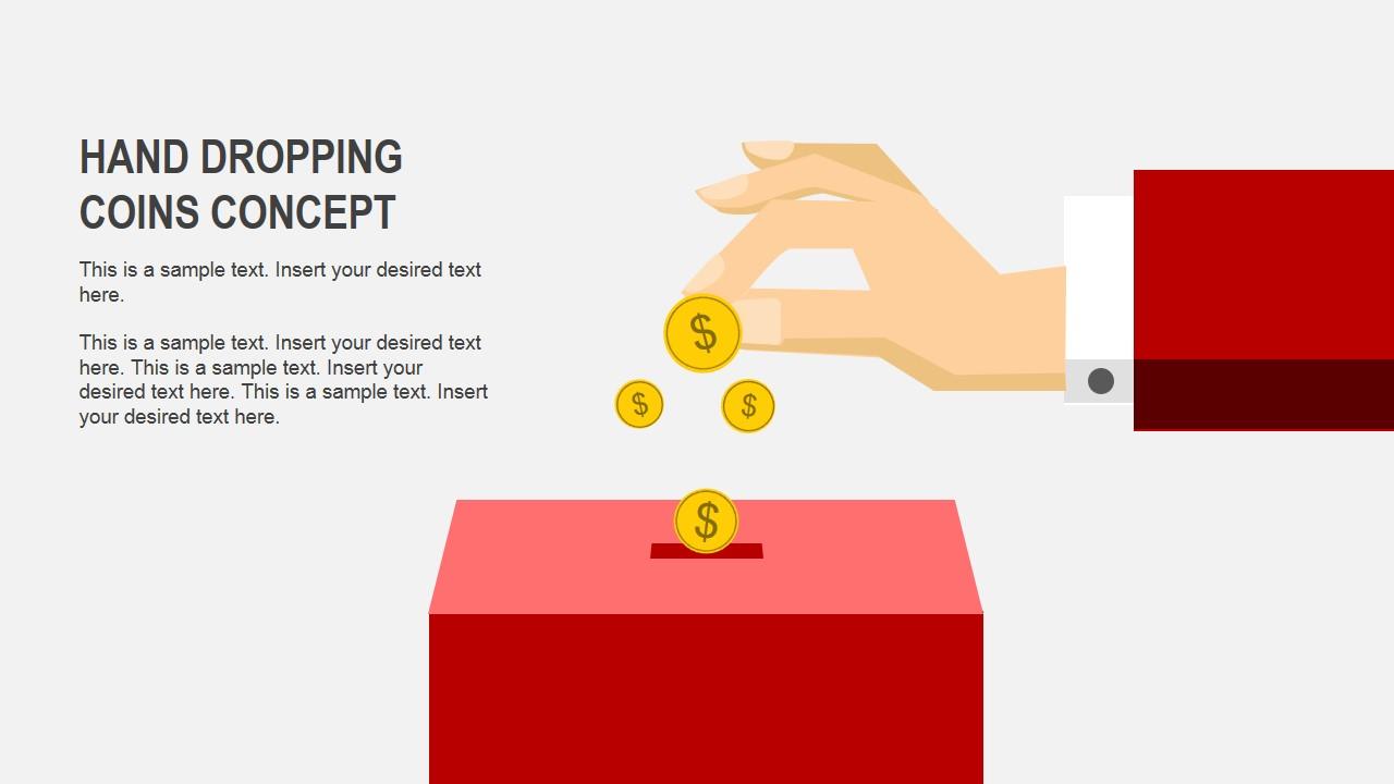 savings concept powerpoint shapes slidemodel