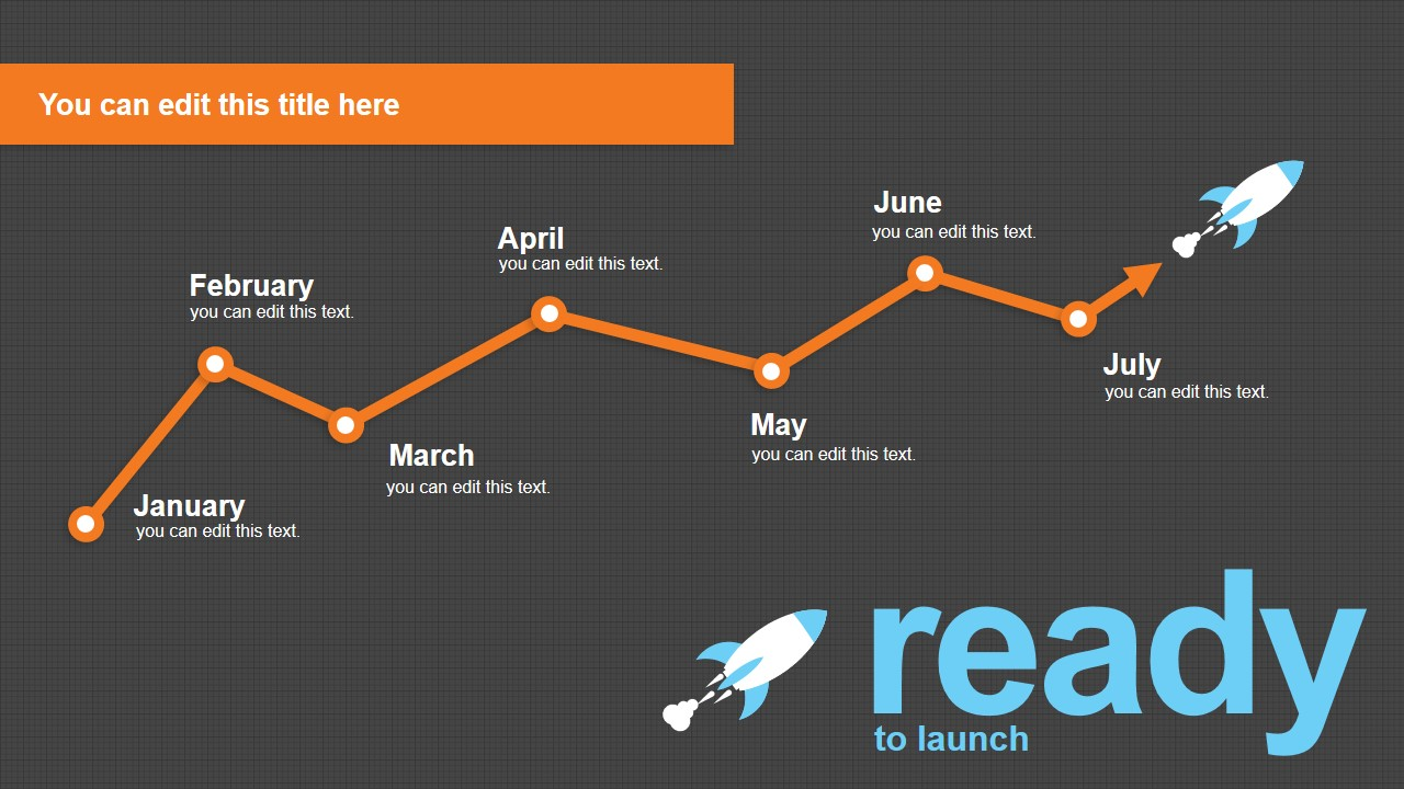 monthly timeline powerpoint slide template slidemodel